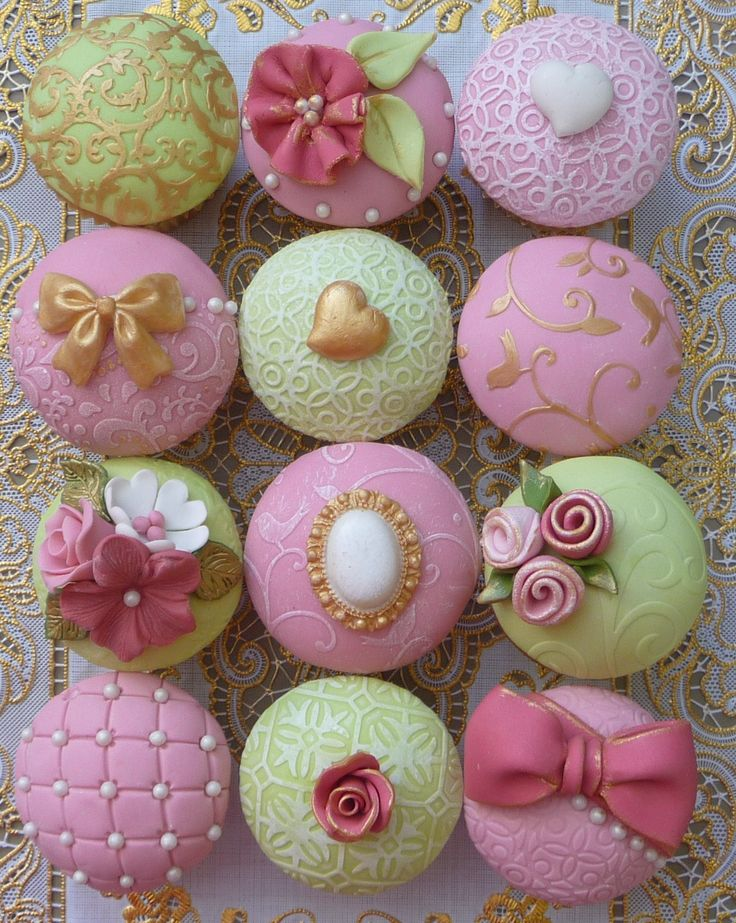 Gorgeous domed cupcakes