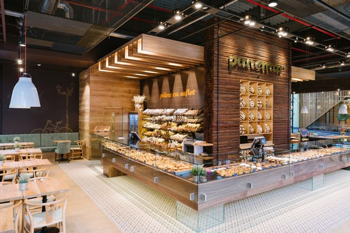 Retail Design Blog — Panemar Polus Center Bakery by Todor Cosmin...