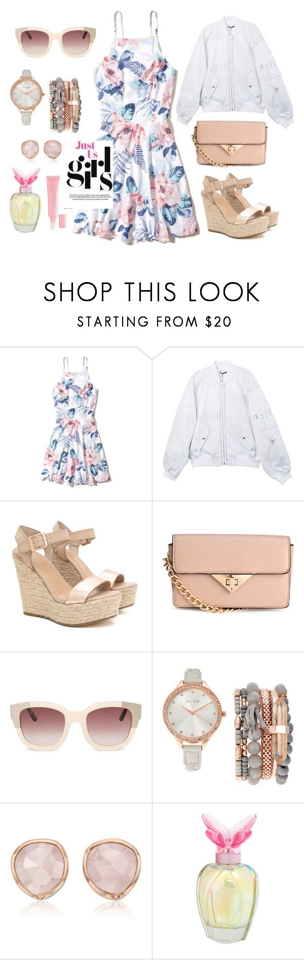 """Just Us Girls"" by hiddensoulmemories ❤ liked on Polyvore featuring Hollister Co., H&M, Jessica Carlyle, Monica Vinader, Mariah Carey and Christian Dior"