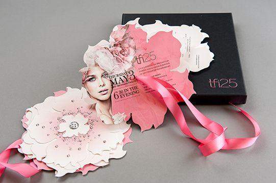Luxury Invitation for the TFI Toronto Fashion Incubator's 25th Anniversary | Palettera