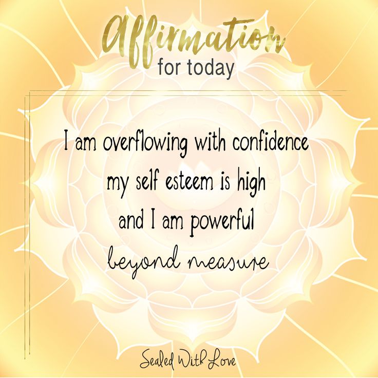 positive self affirmation on self esteem Find and save ideas about self love affirmations on pinterest | see more ideas about positive affirmations, self healing and self love.