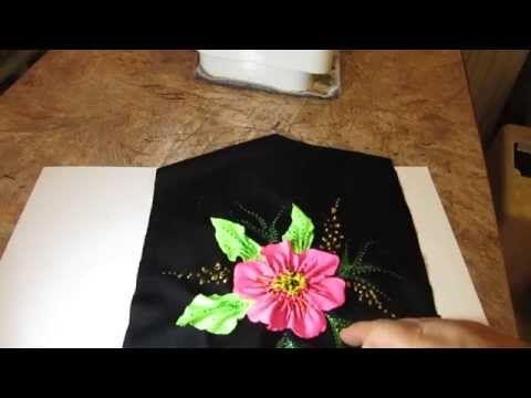 объёмный цветок из бифлекса 2 - YouTube
