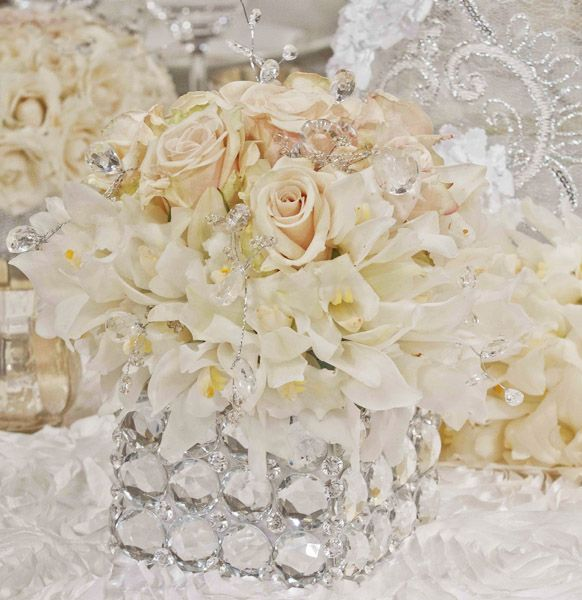 Crystal And White Wedding Theme: 10+ Images About Glamorous Wedding On Pinterest