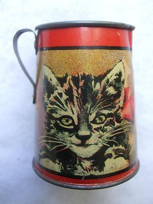 1920's Ohio Art Kittens Cats ABC Tin Tea Set Tea Pot