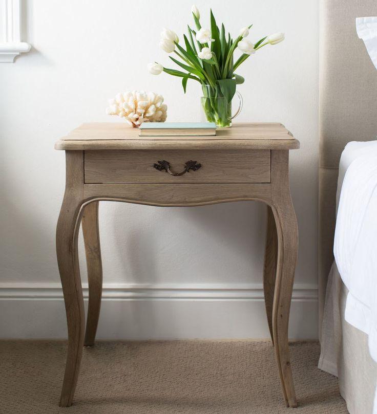 Oak Bedside Table - French Style