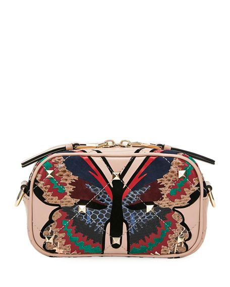 4aa5aaf14f VALENTINO BOOMSTUD SMALL BUTTERFLY CROSSBODY BAG. #valentino #bags #shoulder  bags #leather #crossbody
