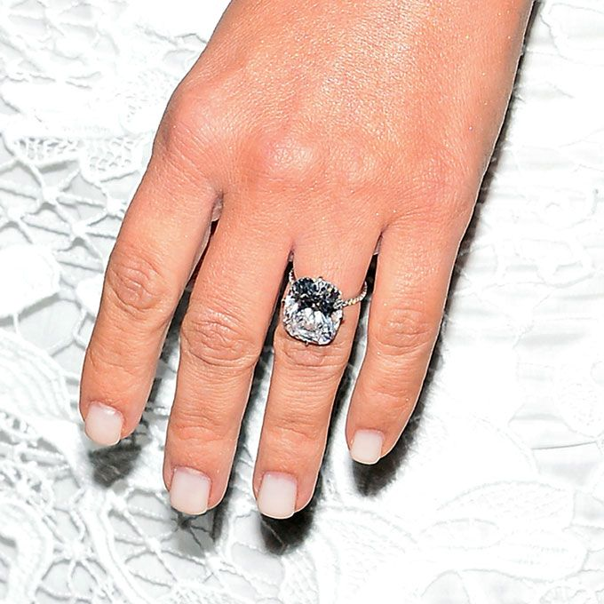 Brides.com: Get the Look: Kim Kardashian's Engagement Ring from Kanye West! Click to view more styles!