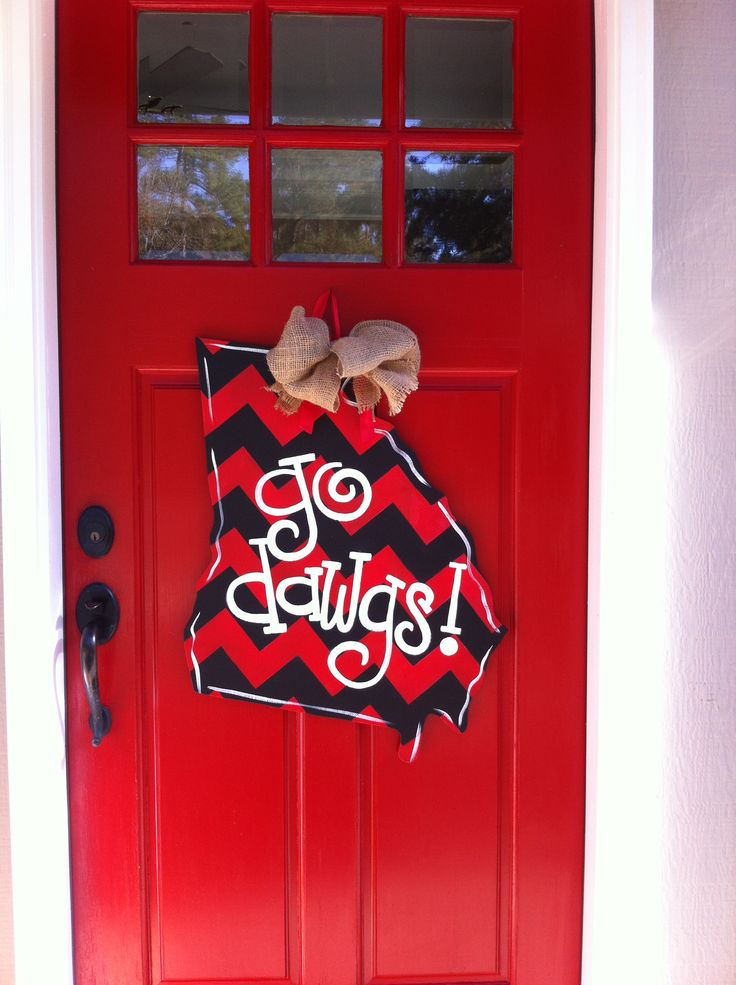 Ga Bulldog Door Hanger