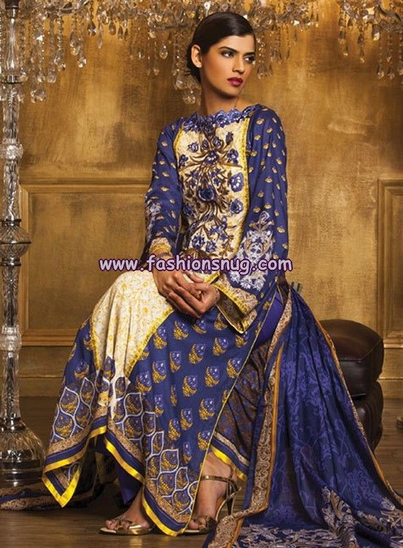 images 0f blue week | Al-Karam Textiles Lawn Collection 2013 Volume 1 | Pakistani Fashion ...