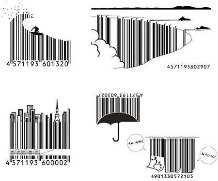 Japanese barcode art