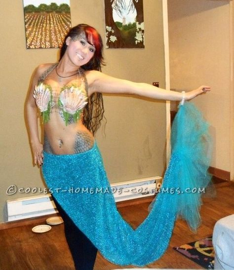 Coolest Homemade Mermaid Costume... Coolest Halloween Costume Contest More