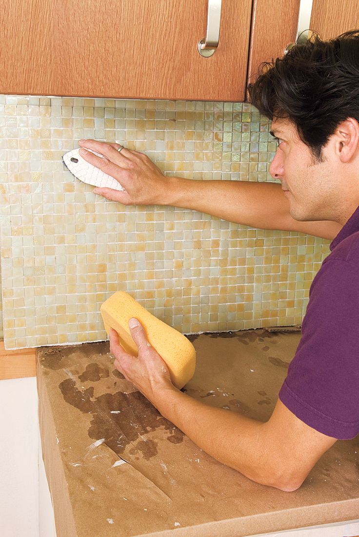 How to Install a Glass Mosaic Tile Backsplash in 2020