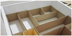 Tu Organizas.: Faça você mesmo, divisórias de gavetas
