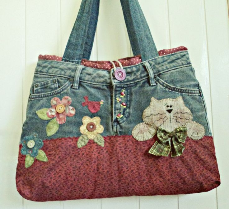 Purse out of levi's is so cute!