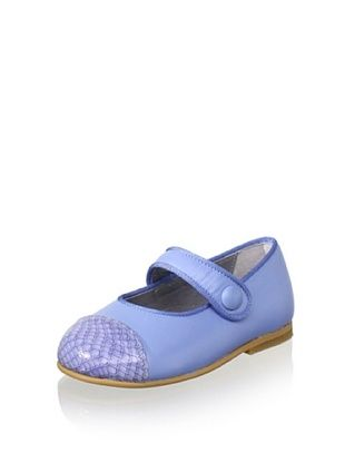 67% OFF TNY by Tinny Kid's Cap-Toe Flat (Azul)