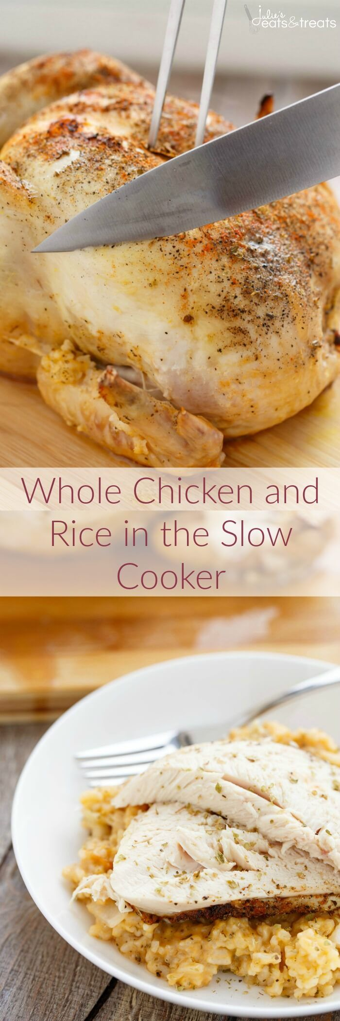 Whole chicken and rice in the slow cooker recipe for How long to boil a whole chicken for soup