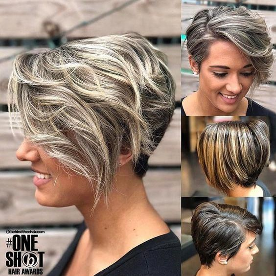 10 Balayage Short Hairstyles with Tons of Texture - Short Hair Color Ideas 2020 #shorthairbalayage