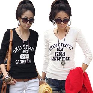 2013春装新品 纯棉打底T恤 清晰简洁 韩版修身T恤 fashion-淘宝网