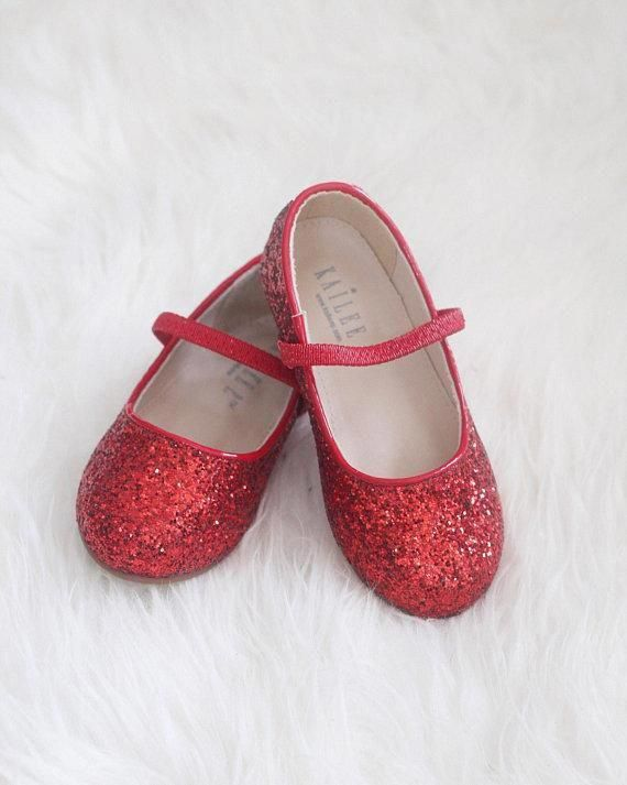 2ccc2b230ac RED Rock Glitter Maryjane Ballet Flats  glittershoes