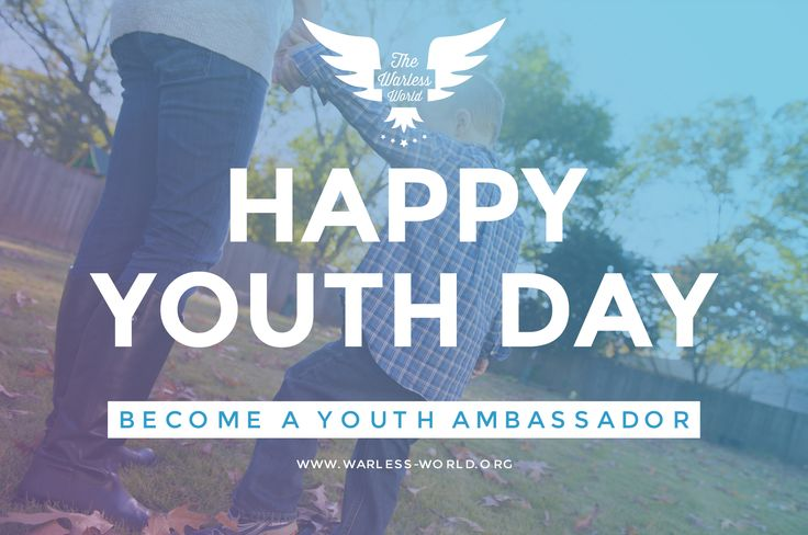 Happy Youth Day!  Today the whole world is celebrating the International Youth Day!  Why? To show YOU, that every person has a voice - no matter how old you are!  To celebrate this, we want you to become our Youth Ambassador!  Just send us an email to: ambassadors@warless-world.org  We are looking forward to your email!  #FunFact: Our initiator is also a Youth!  For more information on how to become a Warless World Ambassador visit: www.warless-world.org/en/ambassadors/