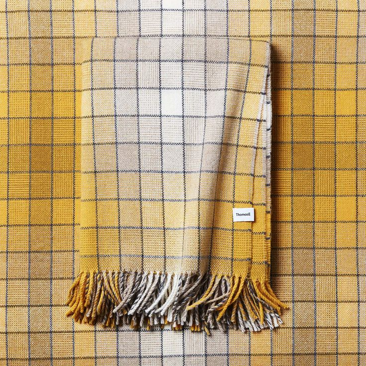 Plaid designed by Thomas Eurlings. The size of the plaid is 140x200cm and is made of a 100% new wool. Photo by: Rene Mesman Order at: www.thomaseurlings.nl