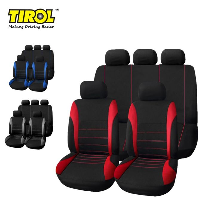 TIROL T21620 Universal Car Seat Cover 9Pieces/Set Black/Red/Blue/Gray Full Seat Covers For Crossovers Sedans Free Shipping //Price: $26.99 & FREE Worldwide Shipping //     #amazing