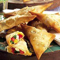 Filodeegdriehoekjes met witte kaas (Marokko)
