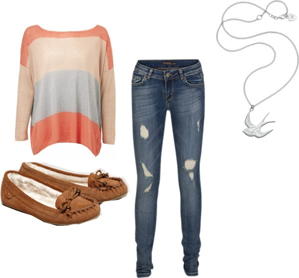 """""""moccasins, sweater, sparrow, skinnies."""" by kandis-hunter on Polyvore"""