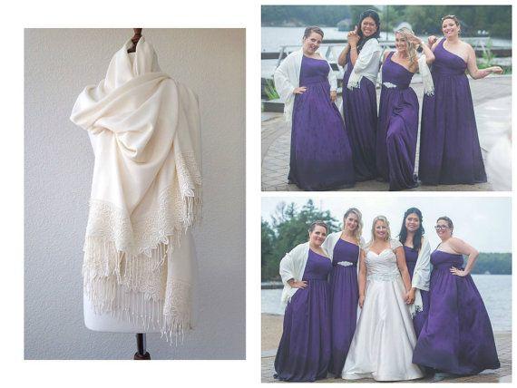 Châle de mariage, les mariées haussement d'épaules, Ivoire foulard mariée, demoiselle d'honneur, cadeau, CADEAU ENSEMBLES