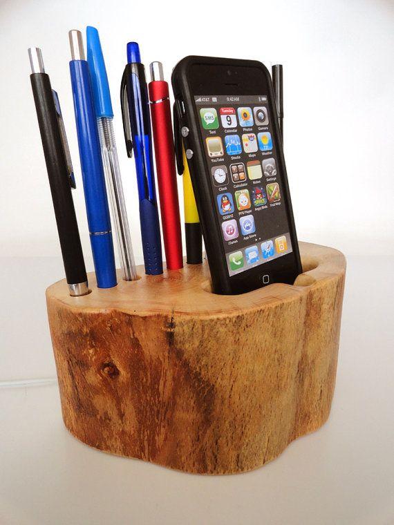 iPhone dock / Pen Holder iPhone 4/4S iPhone 5 by valliswood