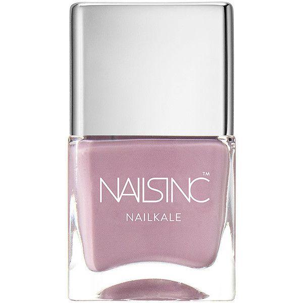 Nails inc Nailkale Nail Polish, Windsor Mews 0.47 oz (14 ml) ($14) ❤ liked on Polyvore featuring beauty products, nail care, nail polish, nail colour, opi nail lacquer, nail color and lilac nail polish