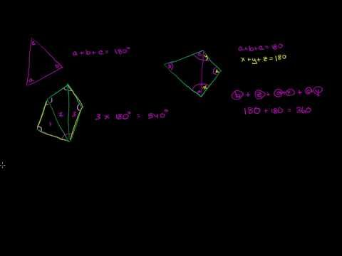 Sum of interior angles of a polygon   Angles and intersecting lines   Geometry   Khan Academy - YouTube