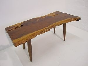 Vintage Retro Solid Yew Wood Coffee Table By Reynolds Of Ludlow   1950u0027s.