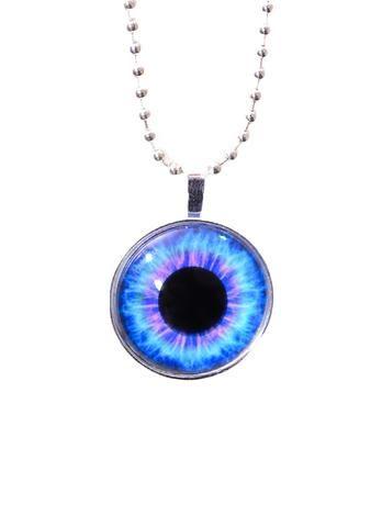 Psychedelic eye necklace