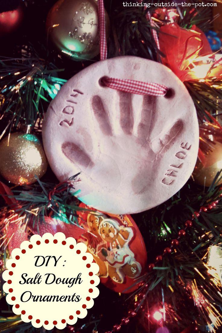DIY: Salt dough hand print Christmas ornaments
