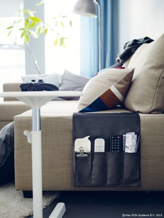 Buzunarul FLÖRT te ajută să nu mai uiți unde ai pus telecomanda. www.IKEA.ro/buzunar_FLORT