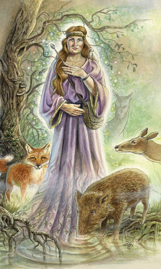 Cerridwen - Goddess of transformation, death, magic, regeneration, the Welsh Goddess of the Sacred Cauldron of inspiration, awen, a powerful symbol of transforming magic for it is said to contain all of the knowledge of the world.
