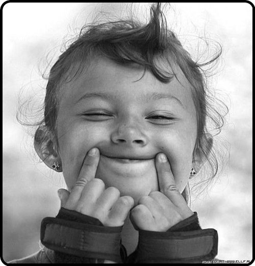 Put on a happy face, it lifts your heart!
