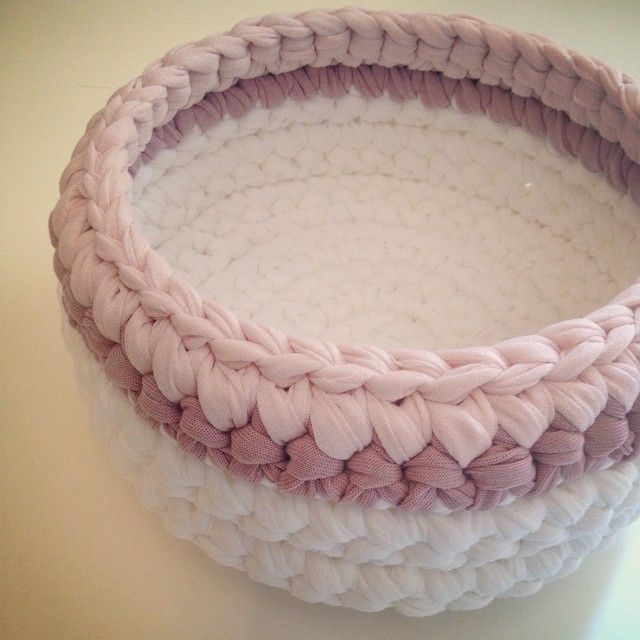Basket pink- withe