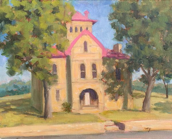 Old Jail, Llano, Texas  oil painting, 8x10""