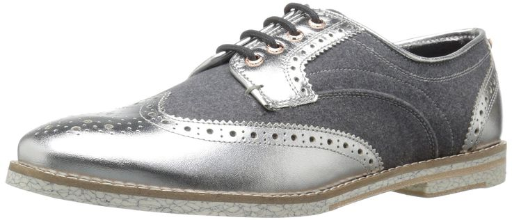 Ted Baker Women's Anoihe Oxford, Silver, 5 M US