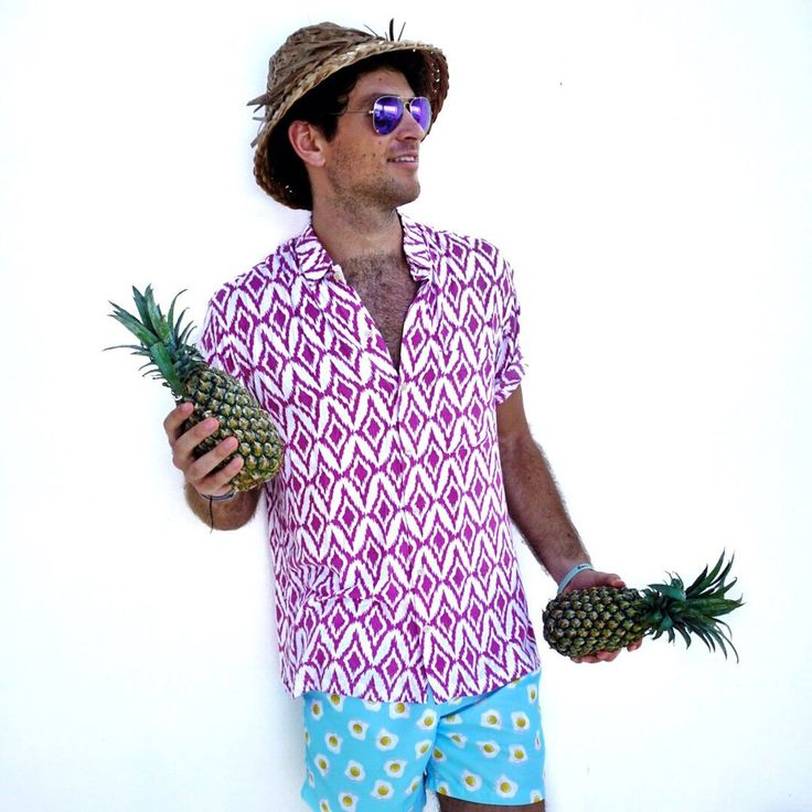 The Island Diamonds - Razz  Hawaiian Shirt by Kenny Flowers www.kennyflowers.co