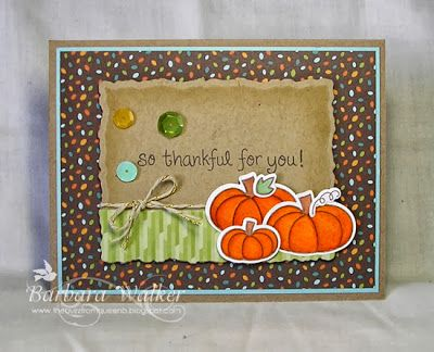 The Buzz: So Thankful for You! card, created with #LawnFawn stamps, papers, dies and lawn trimmings.