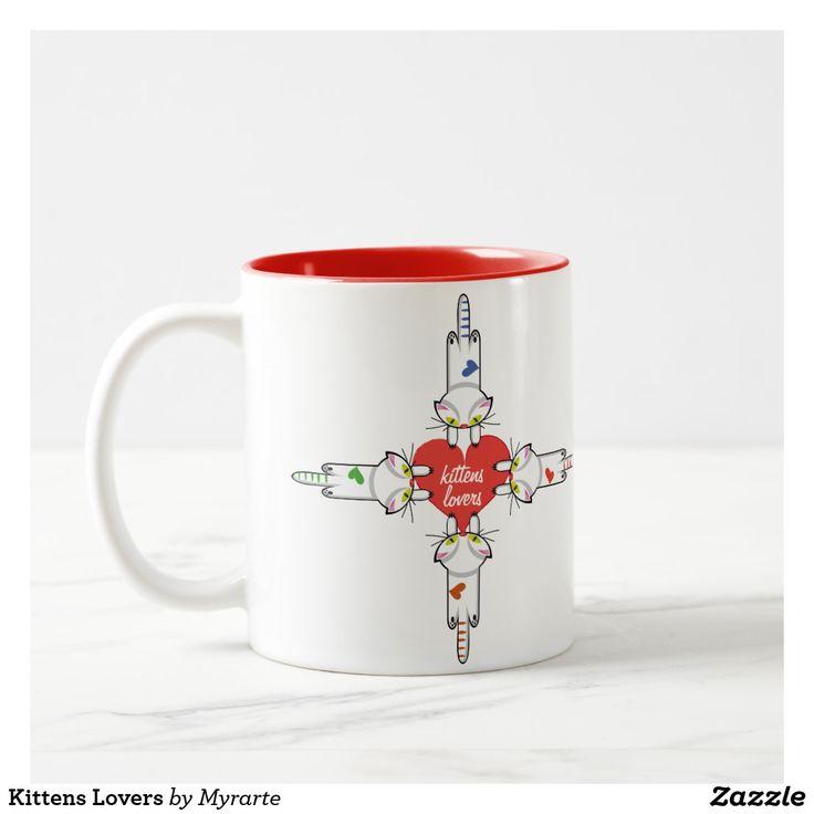Kittens Lovers. Gato, cat, kitten. Love. Regalos, Gifts. Producto disponible en tienda Zazzle. Tazón, desayuno, té, café. Product available in Zazzle store. Bowl, breakfast, tea, coffee. Día de los enamorados, amor. Valentine's Day, love. Link to product: https://www.zazzle.com/z/yeowz?rf=238167879144476949 #ValentinesDay #SanValentin #love #taza #mug #cat