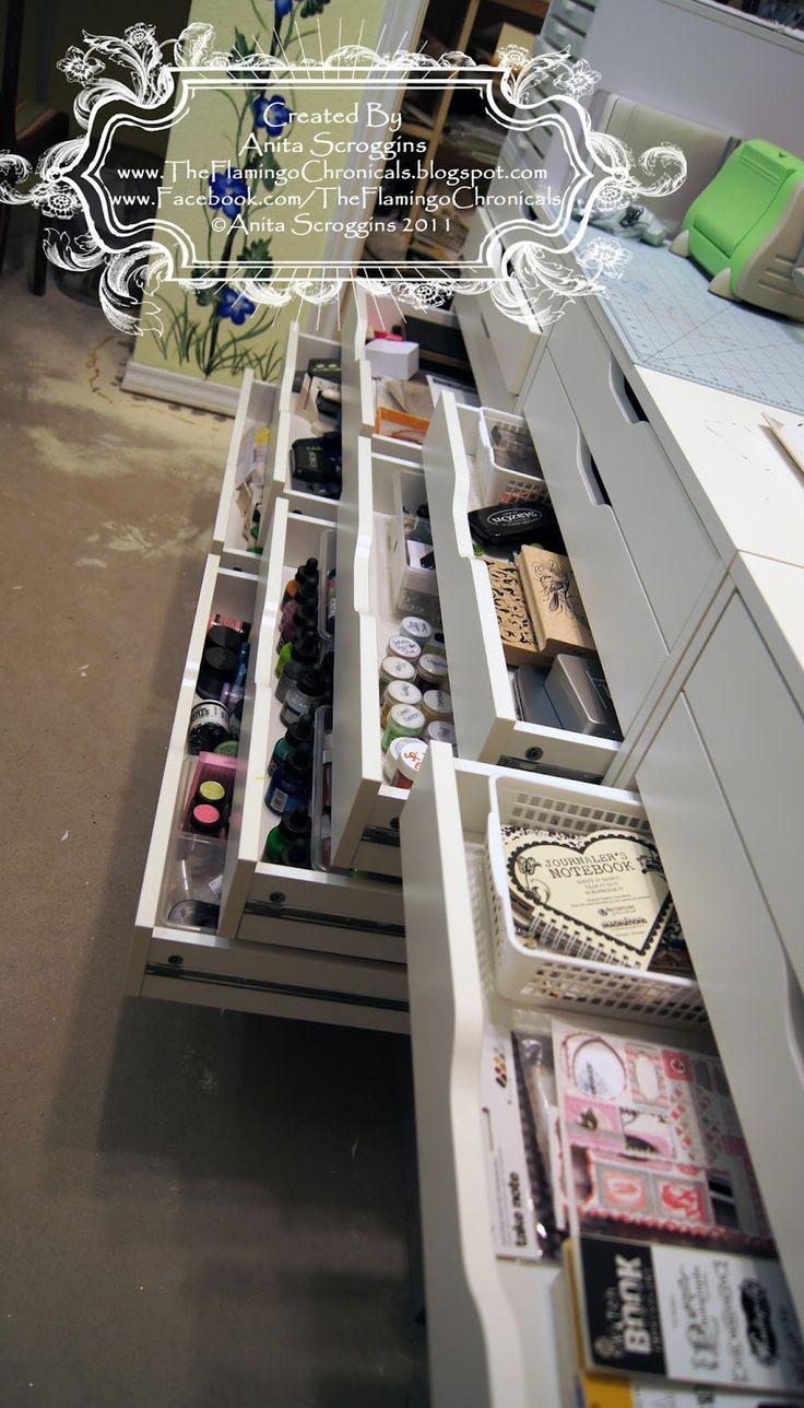 Scrapbook room storage ideas - 25 Best Ideas About Scrapbook Storage On Pinterest Scrapbook Organization Scrapbook Rooms And Craft Organization
