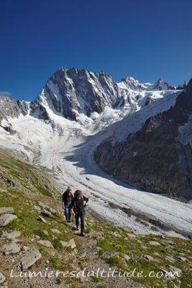 Randonnee, balcons de la mer de glace, Massif du Mont-Blanc, Haute-savoie…