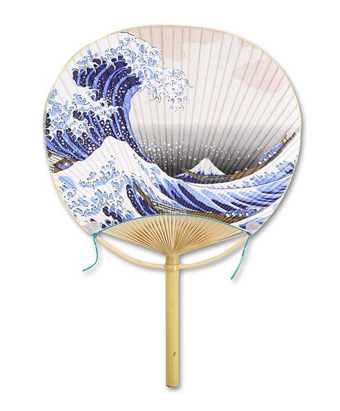 Marugame Uchiwa Fan Fuufu Hokusai's Wave