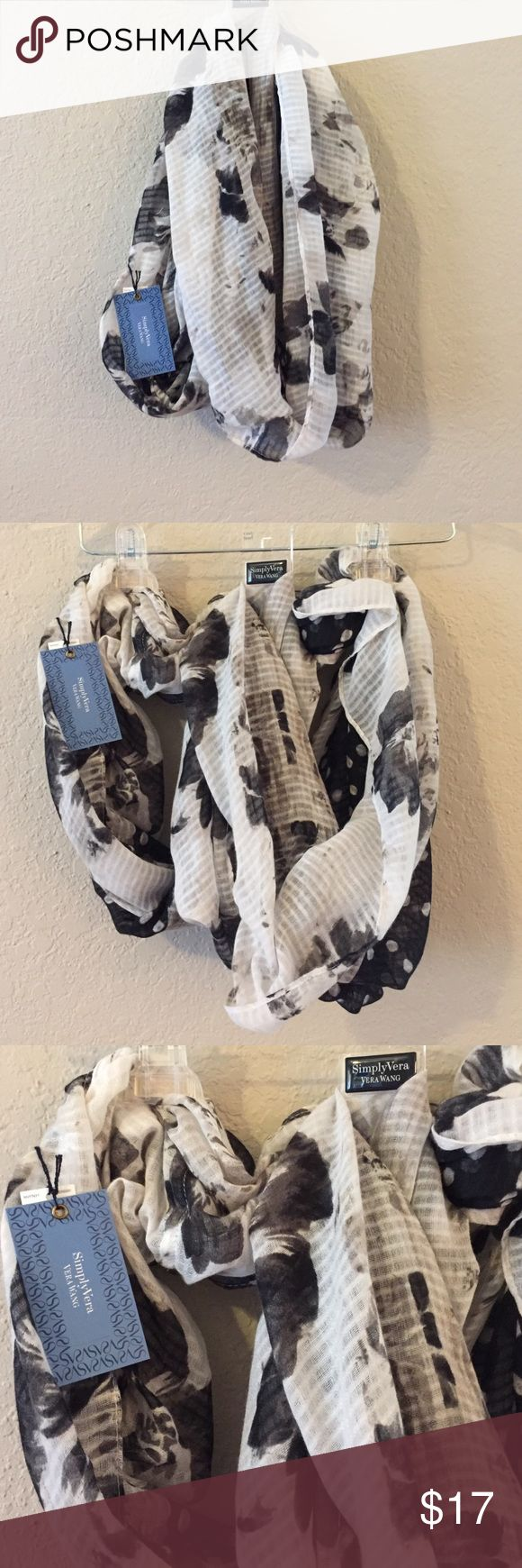 Simply Vera Vera Wang Cowl Scarf Simply Vera Vera Wang Cowl Scarf.  Adorable black and white Cowl Scarf.  Accessorize, Accessorize, Accessorize! Simply Vera Vera Wang Accessories Scarves & Wraps