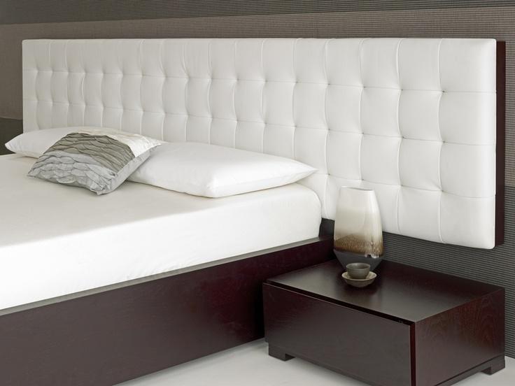 Baltazar Walnut Bed White Headboard
