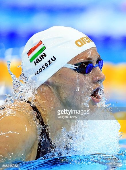 Katinka Hosszu of Hungary competes in the Women's 400m Individual Medley Heats on Day 1 of the Rio 2016 Olympic Games at the Olympic Aquatics Stadium...